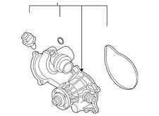 Genuine BMW Water Pump Assembly 11-51-7-586-779