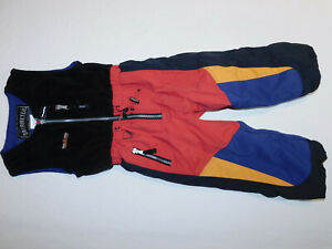 OBERMEYER SKI SNOW BIBS PANTS DURABLE FLEECE UPPER I GROW BLACK BLUE RED BOY'S 4