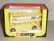 "CORGI 1/64 Scale - ROUTEMASTER NO C469. (46930) ""TDK ""  TAPE CASSETTES (YELLOW)"