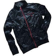 New Era Flyer Zip-Up Light Weight Windbreaker Jacket Size Large Black/Red NWT