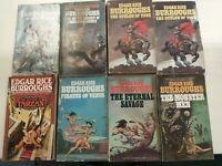 Edgar Rice Burroughs Classic Sci Fi Paperback Book Lot of 8