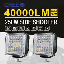 2x 4Inch LED Light Bar Side Shooter SPOT FLOOD Driving Offroad 4WD Truck Lamp AU