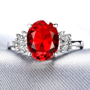 Handmade Natural 3.60ct Ruby  Size US 7 14K White Gold Ring CM160