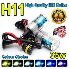H11 8000k HID LAMPADINE 35w Replacment AC Xenon base in metallo PER FARI UK venditore 8k