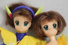 Card Captors (Clamp et al) Japanese Anime Set of 2 Poseable Dolls Figures Rare