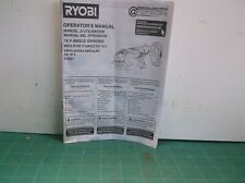 Ryobi P4221 18V Angle Grinder Operator's Manual ( Manual Only )