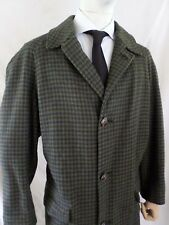 PENDLETON brown blue tattersall plaid wool men's winter coat XL