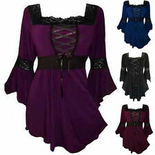 UK New Womens Long Sleeve Lace Tunic Blouse Tops T-Shirt Ladies Casual Size 6-20