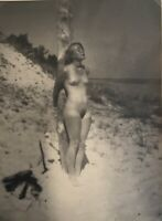 PHOTO VINTAGE VON PERCKHAMMER NU BONDAGE PLAGE - TIRAGE ARGENTIQUE GSP 1930