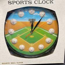 Vintage Baseball Diamond 11 in. Round Analog Wall Clock