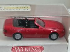 Wiking (142/6a) - Mercedes 500 sl abierta, rojo, embalaje original