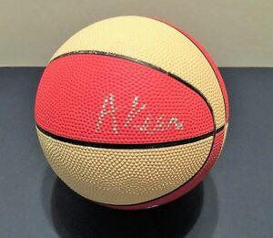 "Hakeem ""Akeem"" Olajuwon Signed Mini Lil Champ Basketball Houston Rockets"