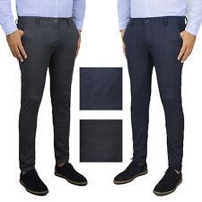 Pantalone Uomo Elegante Invernale Chino Principe DI Galles Jeans Casual SlimFit