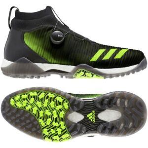 Adidas CODECHAOS BOA Herren Golf Schuhe Wasserdicht Spikeless schwarz neon-grün
