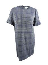 Calvin Klein Women's Plus Size Plaid Bell-Sleeve Dress