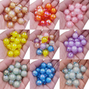 5Pcs 16mm Candy Colour Round Loose Spacer Beads Jewelry Making Pendant Wholesale