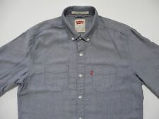 Levis Casual Shirt Modern Fit Medium Denim Wash Button Front Summer