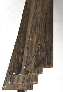 """Ziricote wide / 6 string BASS guitar fretboard blank fingerboard 4x27.5"""" ZCF45"""