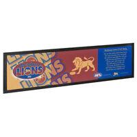 AFL Bar Runner - Brisbane Lions - Bar Mat - Team Song - 25cm x 90cm
