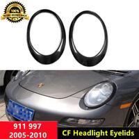 911 Eyelid Carbon Fiber Headlight Cover for Porsche Carrera S 4S 997 2005-2010