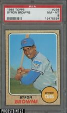 1968 Topps #296 Byron Browne Chicago Cubs PSA 8 NM-MT