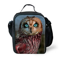 Cute Owl Thermal Cooler Insulated Lunch Bag Tote Container Lunchboxes School Bag
