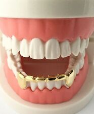 Hip Hop 14K Gold Plated Mouth Teeth Grills Half Bar Grillz - Bottom Lower S001-H