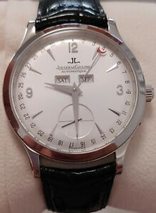 Jaeger-LeCoultre Master Control Calendar 140.8.87 Box & Papers 37mm Silver Dial