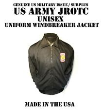 US ARMY JROTC UNISEX S DRESS JACKET MALE FEMALE WINDBREAKER BLACK # 385 UNIFORM