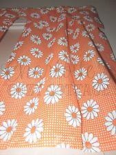 New listing Nos Vintage 1960s Groovy Orange Daisy Curtain Panels & Valance