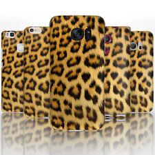 (BG0045) natural con estampado de leopardo de impresión de plástico funda de teléfono tapa dura