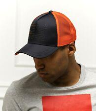 ARMANI EXCHANGE Baseball Cap 954047 Black X Orange LOGO HAT O/S New
