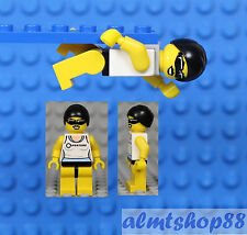 LEGO - Swimmer Minifigure Female Swim Cap Champion Lifeguard Pool Series #1