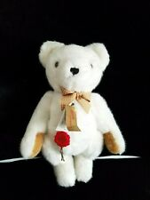 "HERMANN TEDDY ORIGINAL GERMANY COLLECTOR BEAR 14"" WHITE VINTAGE"