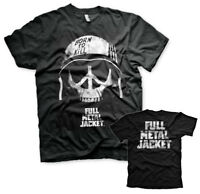 Full Metal Jacket Peace Sign Skull Schädel 1987 Film Männer Mens T-Shirt Schwarz