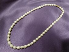 Vintage String of Freshwater 5mm Pearls with Screw Barrel Clasp