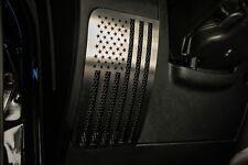 2007-2018 Jeep Wrangler Speaker Cover Overlays  - Stainless Steel American Flag