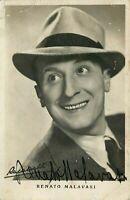 Cinema - Autografo dell'attore Renato Malavasi (Verona, 1904 - 1998)