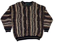 Vintage 90s Sterling Men's XL Coogi-Style Cosby Biggie Pullover Sweater Hip Hop