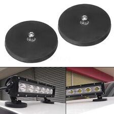 2x LED Work Light Bar Magnet Base Mount Bracket Holder For Car SUV 4WD Truck