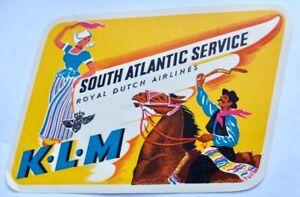 Vintage KLM airline luggage label