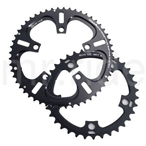 Driveline Chainring Road Bike Bicycle 52-36T,11 Speed,7075/T6 BCD:110mm Black