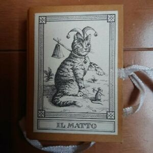 World Cat Tarot world limited 2000 deck 1991 with serial number Japan used EMS