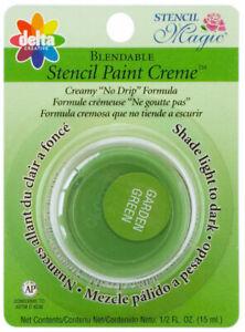 Delta Stencil Magic Blendable Oil Based Stencil Paint Creme Garden Green Color