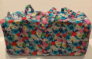 NEW Vera Bradley Large Traveler Duffel Bag Far Out Floral Pattern Folding