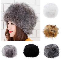 Women Warm Cossack Hats Faux Fur Hat Luxury Premium Winter Russian Style Hat