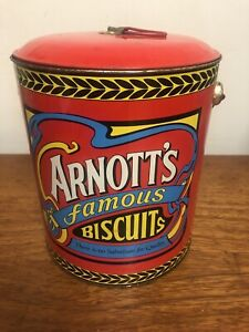 Arnott's Famous Biscuits collectable billy can tin antique Australiana
