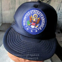 Vintage United States of America Seal Patch Mesh Snapback Trucker Hat Cap USA