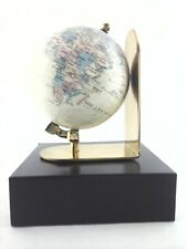 Globe with SOLID BRASS Stand Vintage for Desk Office World Map Small 6 in x 5.5
