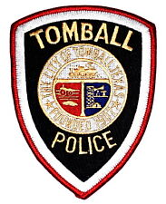 TOMBALL TEXAS TX Police Sheriff Patch RR RAILROAD TRAIN STEAM ENGINE OIL WELL ~